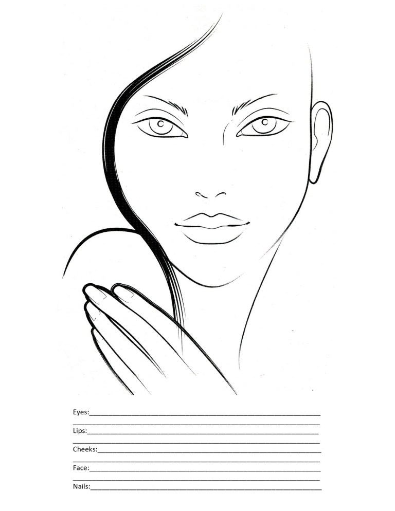 Coloring Page Face