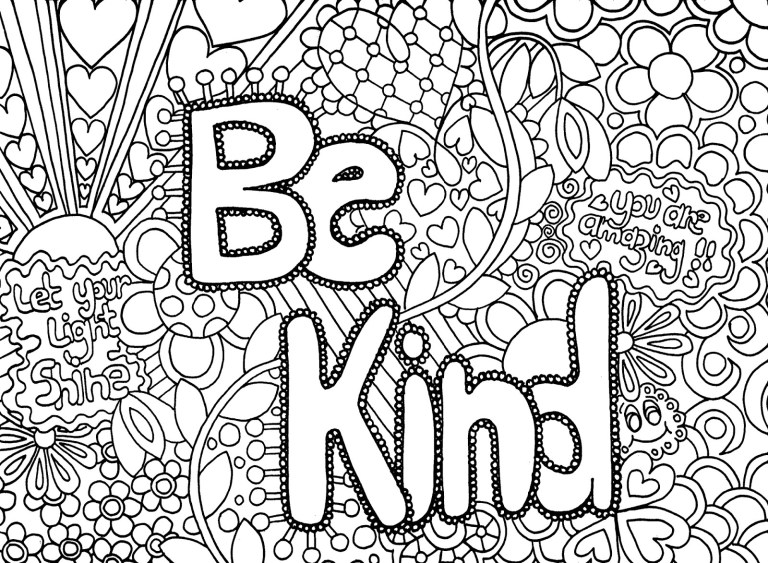 Coloring Page Kindness