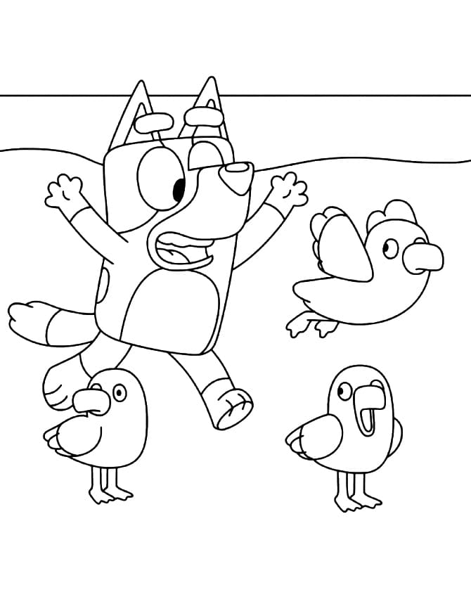 Coloring Pages Bluey