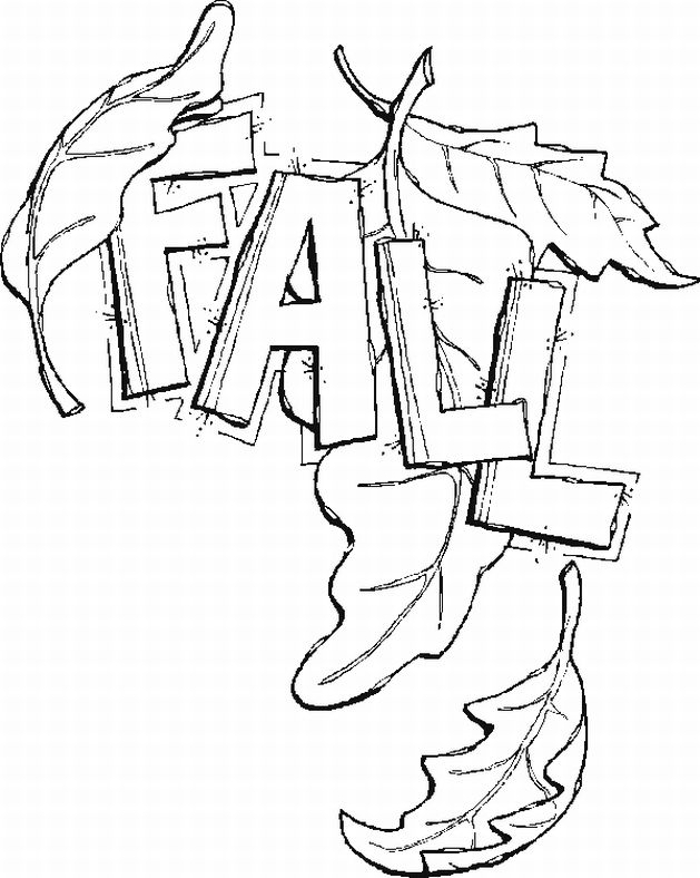 Coloring Pages Fall Leaves