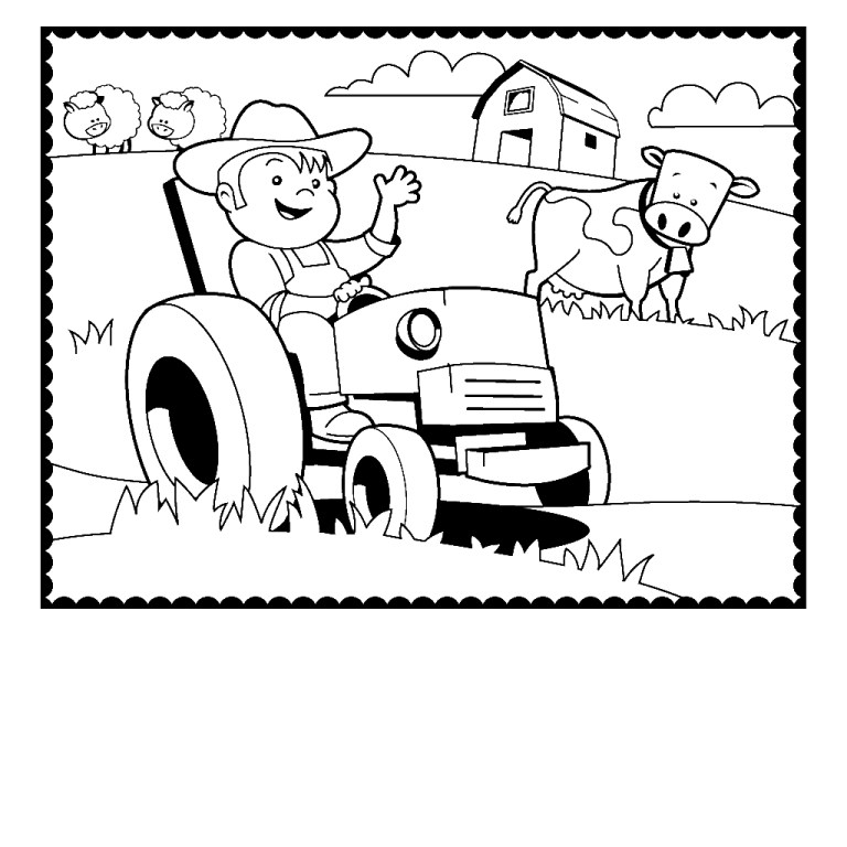 coloring pages for animals farm animals pictures
