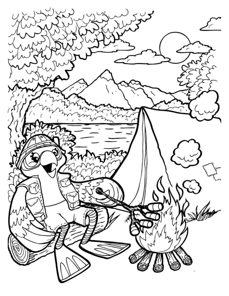 Coloring Pages For Camping