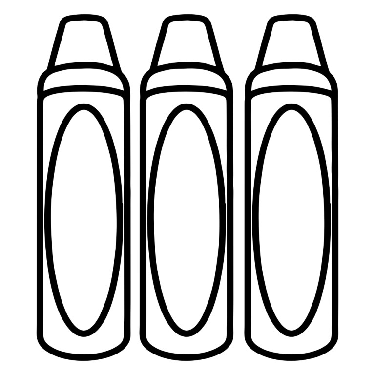 Coloring Pages For Crayons