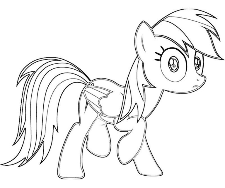 Coloring Pages For Girls My Little Pony Rainbow Dash