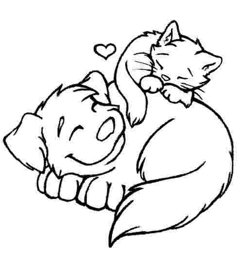 Coloring Pages Of Cats And Dogs