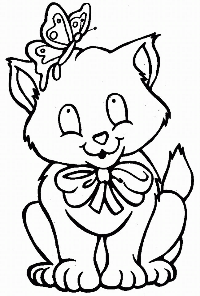 Coloring Pages Of Dogs And Cats Printable