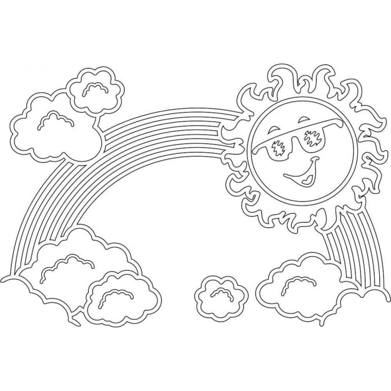 Coloring Pages Rainbow