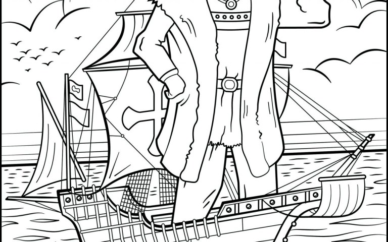 columbus day free coloring pages