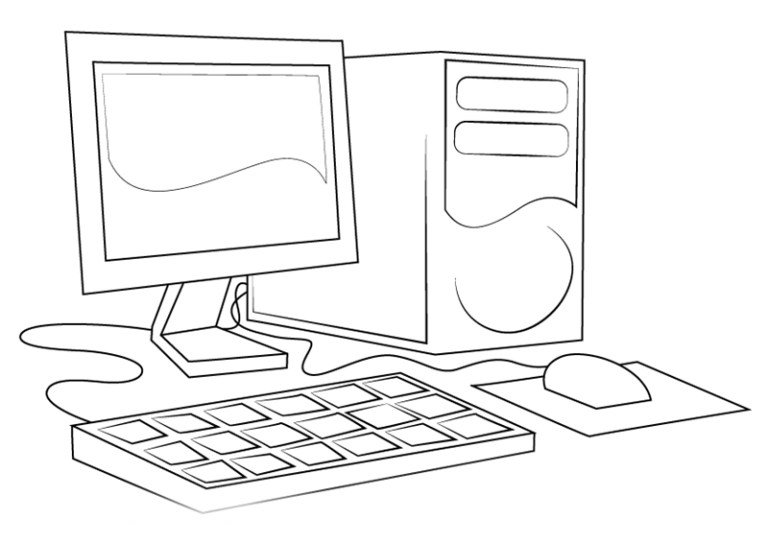 Computer Colouring Pages for Kids