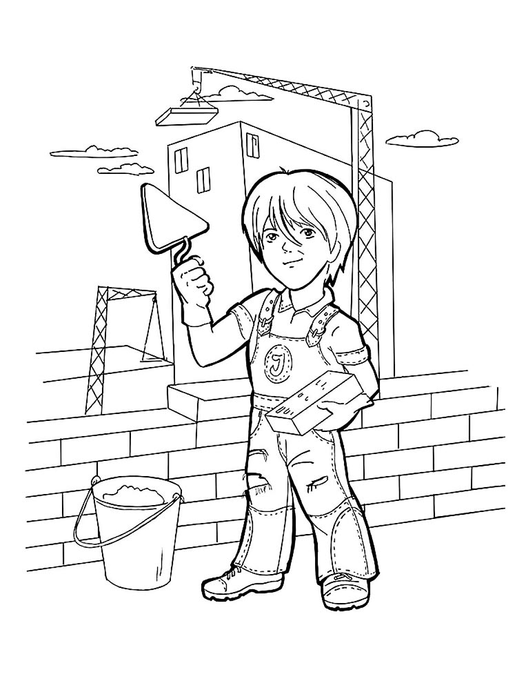 construction site coloring pages free printable pictures