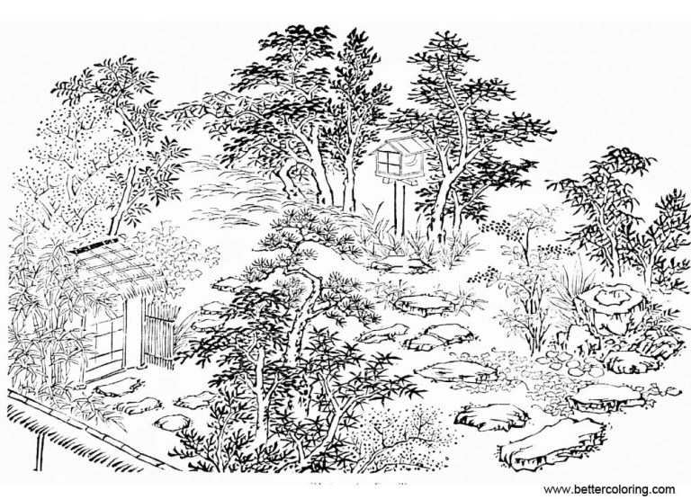 cool garden coloring pages from japan