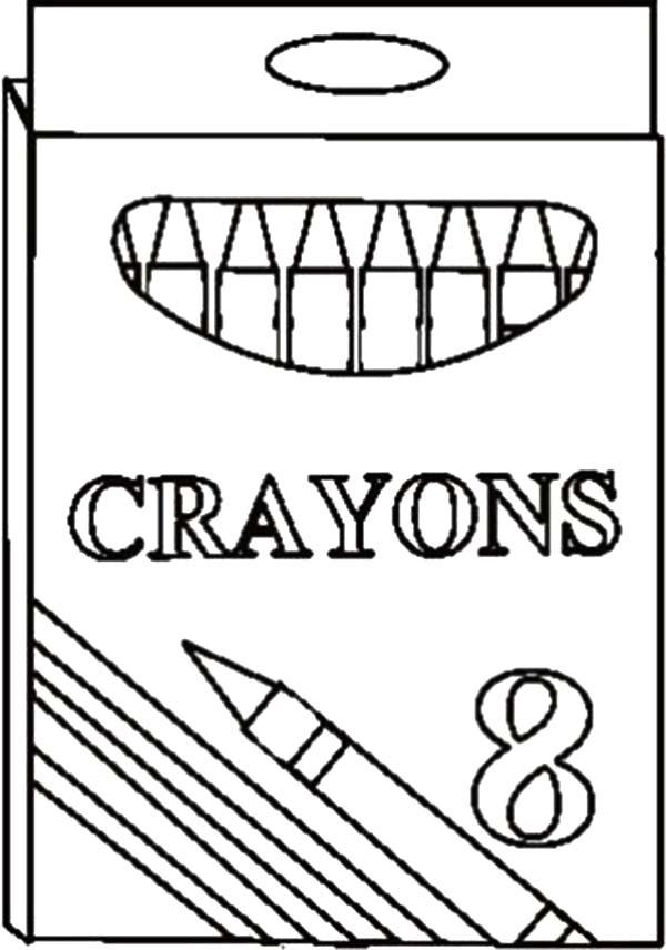 Crayon Coloring Page