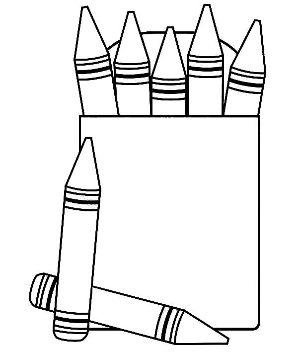 Crayons Color Page