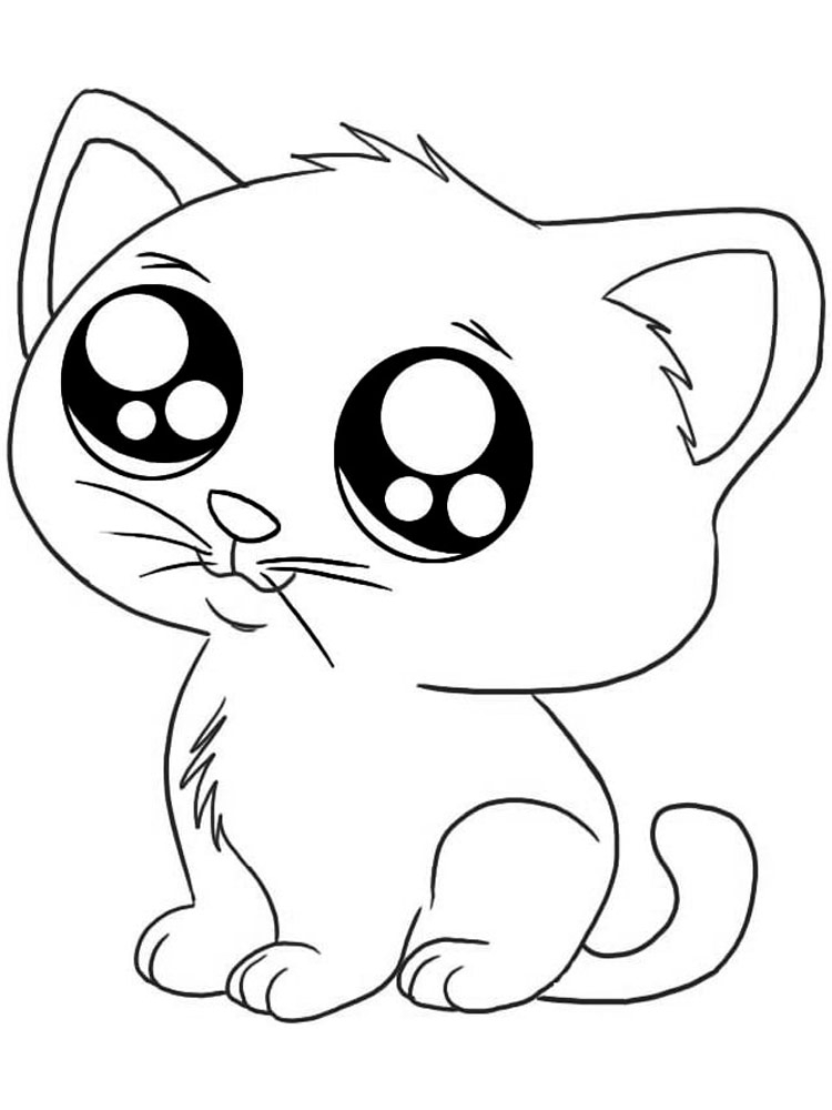 cute cats coloring pages download picture