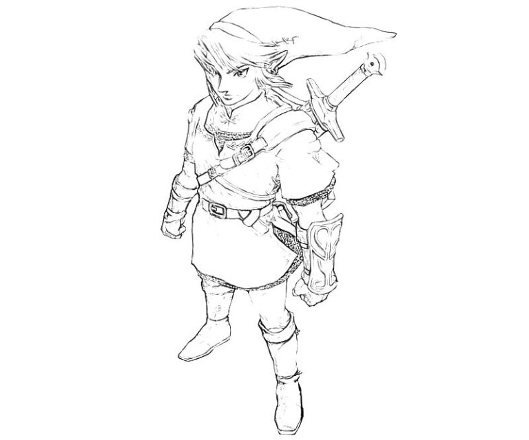 cute link coloring pages to download and print for free