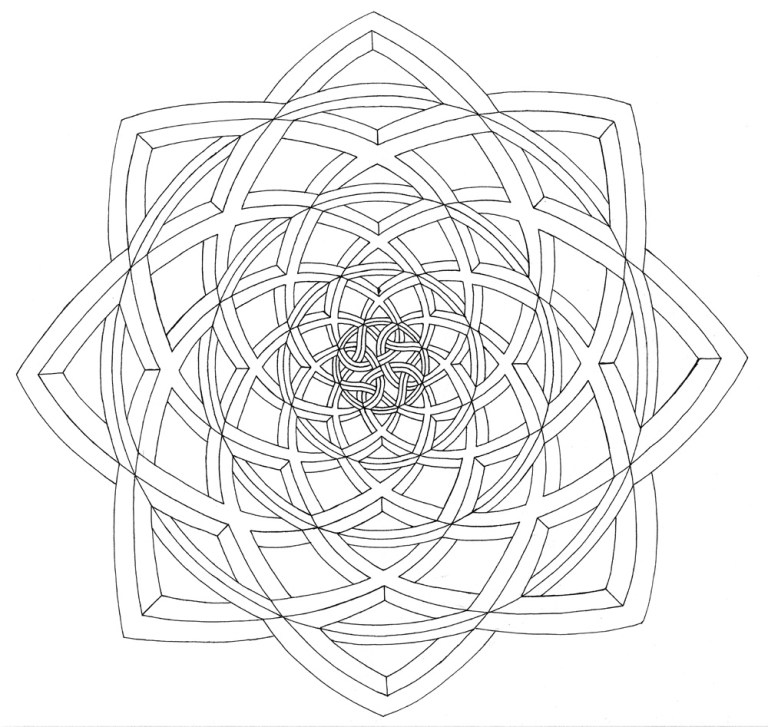 cute optical illusion coloring page to download and print for free