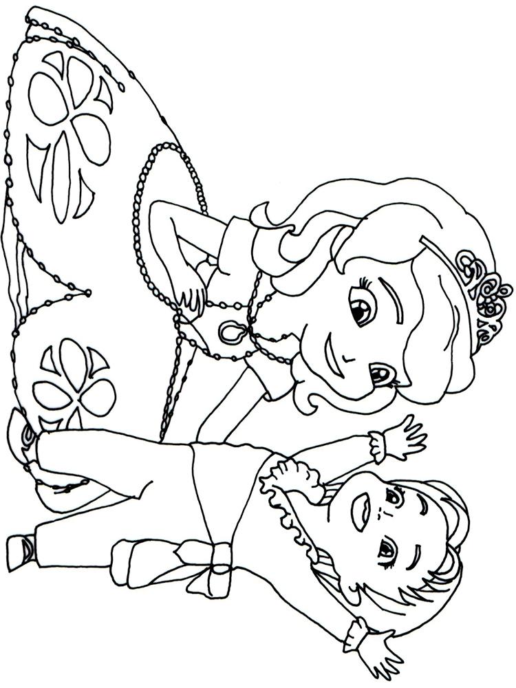 cute sofia coloring page
