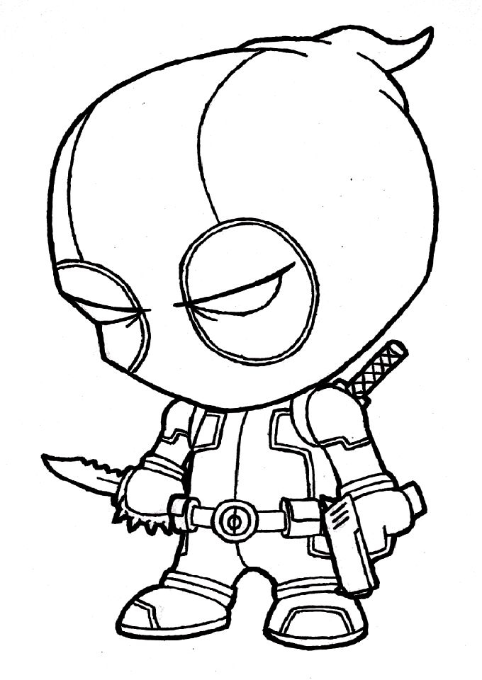 Dead Pool Coloring Pages