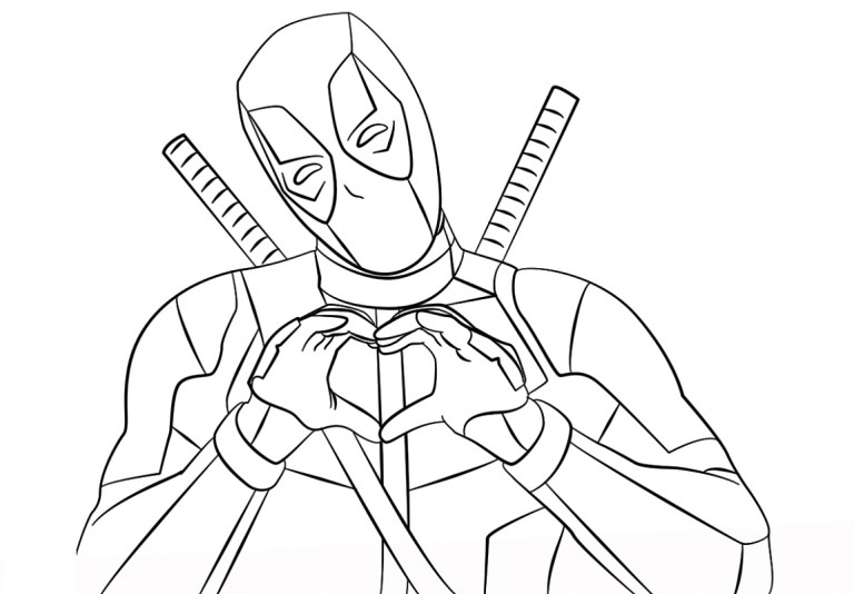 Deadpool Pictures To Color