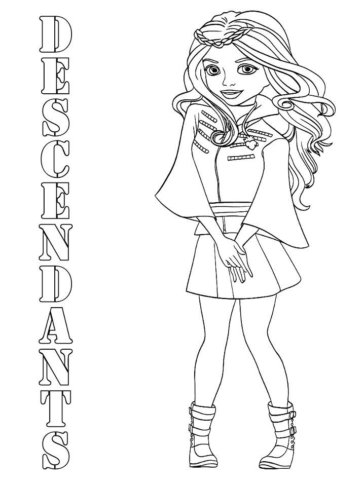 Descendants Logo Coloring Pages