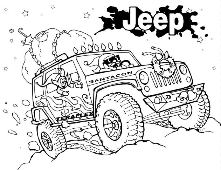 design wrangler off road Jeep Coloring Book