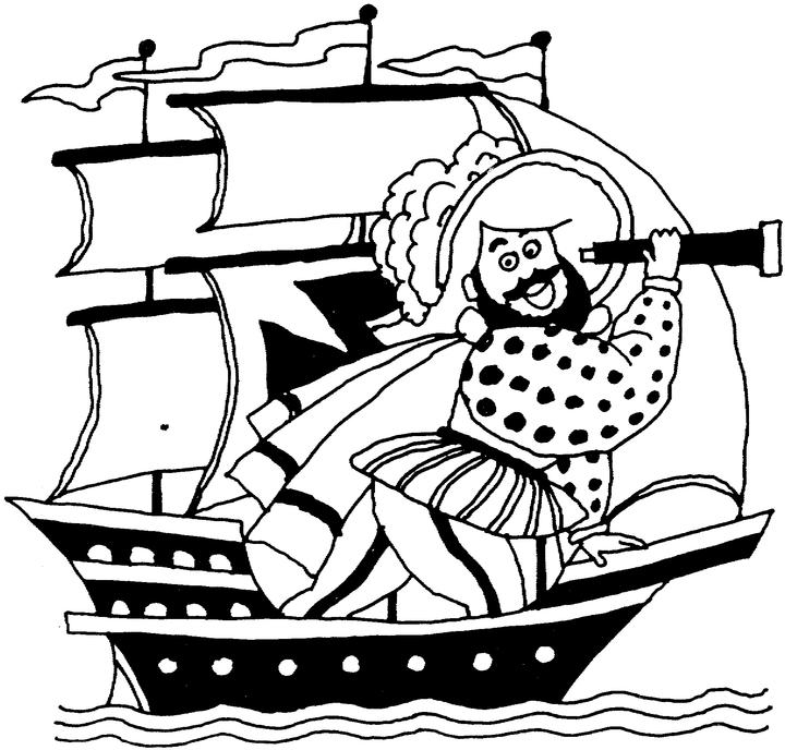 easy columbus day coloring pages printable