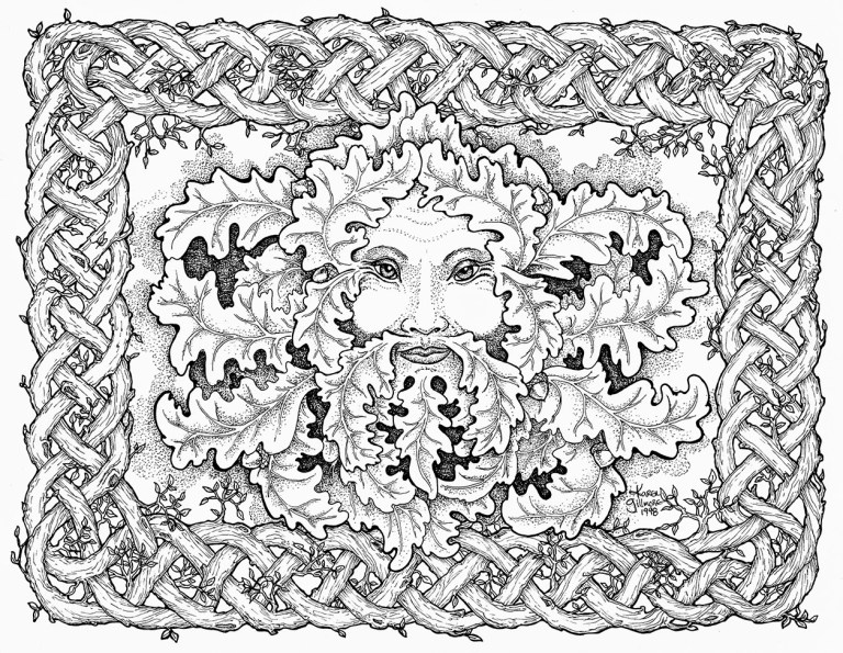 face Free Abstract Coloring Pages