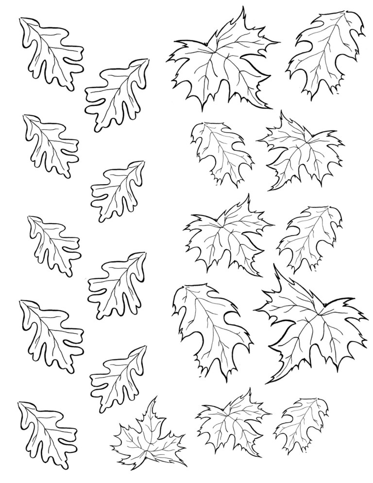 Fall Leaves Coloring Pages Print