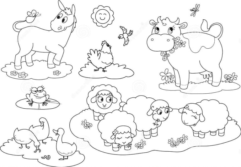 Farm Animals Coloring Pages For Preschool
