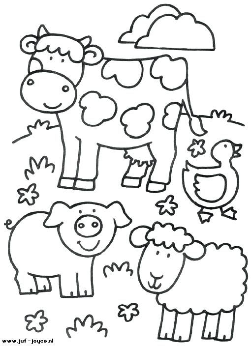 Farm Animals Images For Coloring