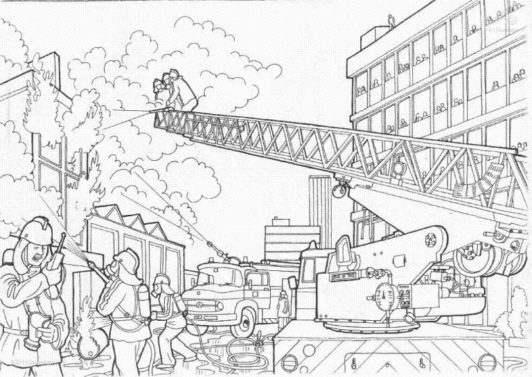 Firefighters Coloring Pages For Kids