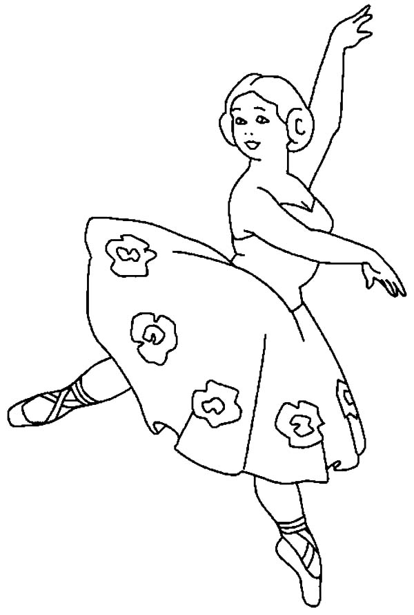 Free Ballet Coloring Pages