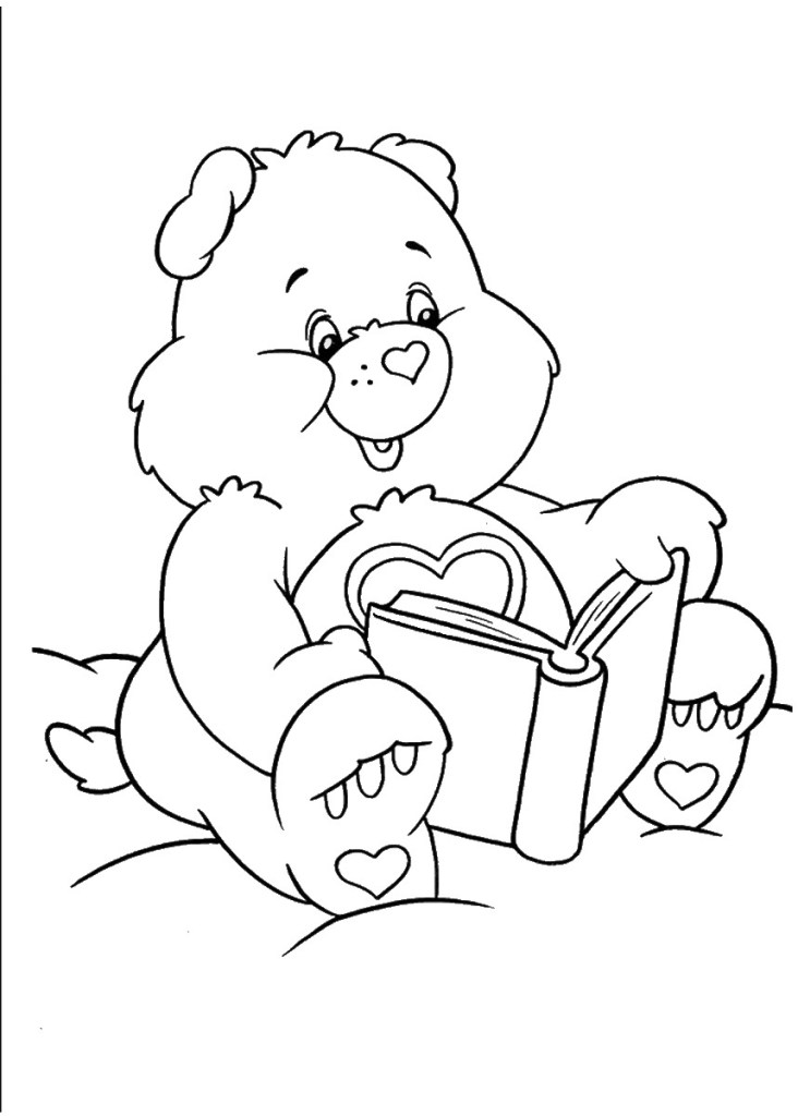 free care bears coloring pages birthday printable