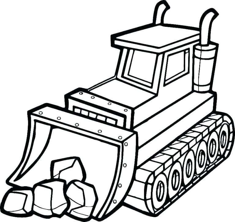 free printable coloring construction vehicles to print