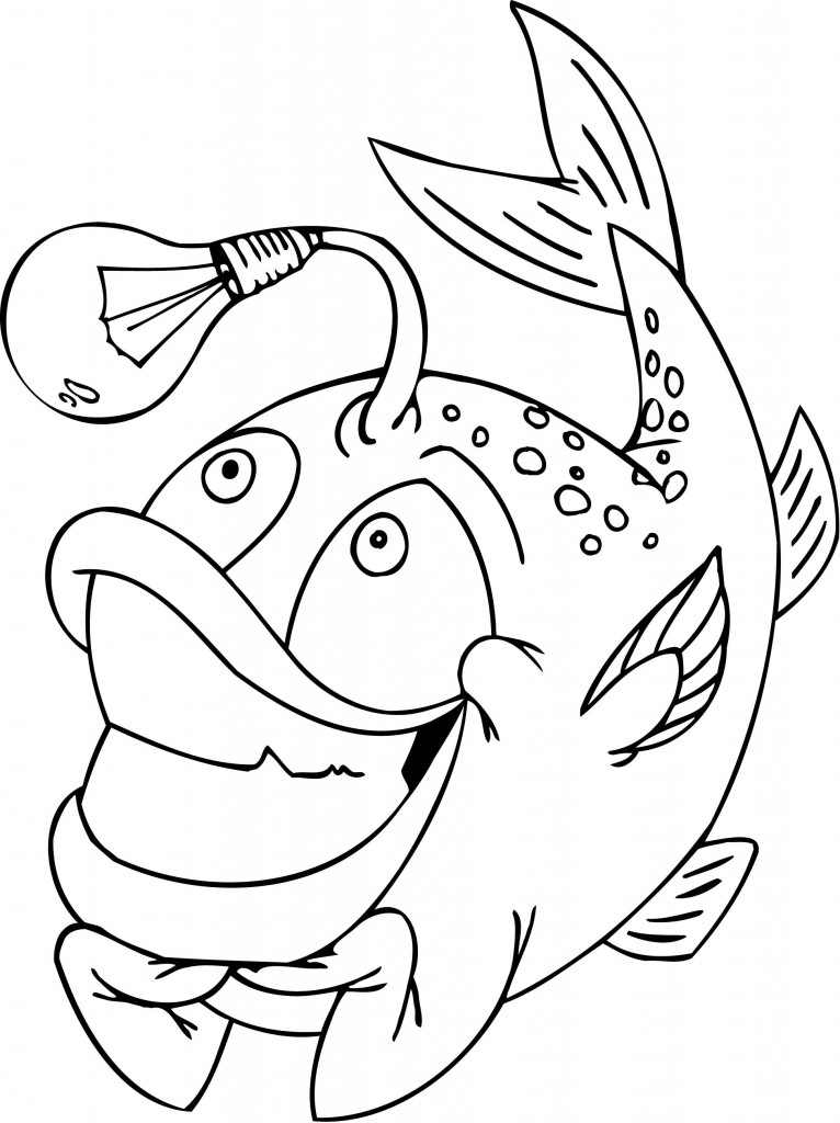 free printable fish funny coloring pages for kids