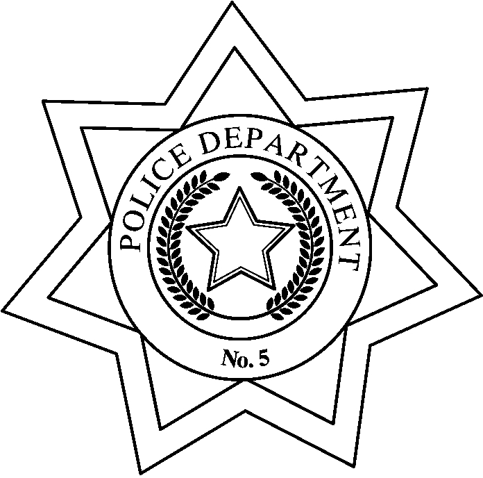 Free Sheriff Badges Coloring Pages