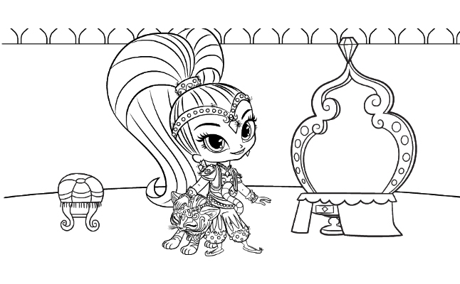 free shimmer and shine image