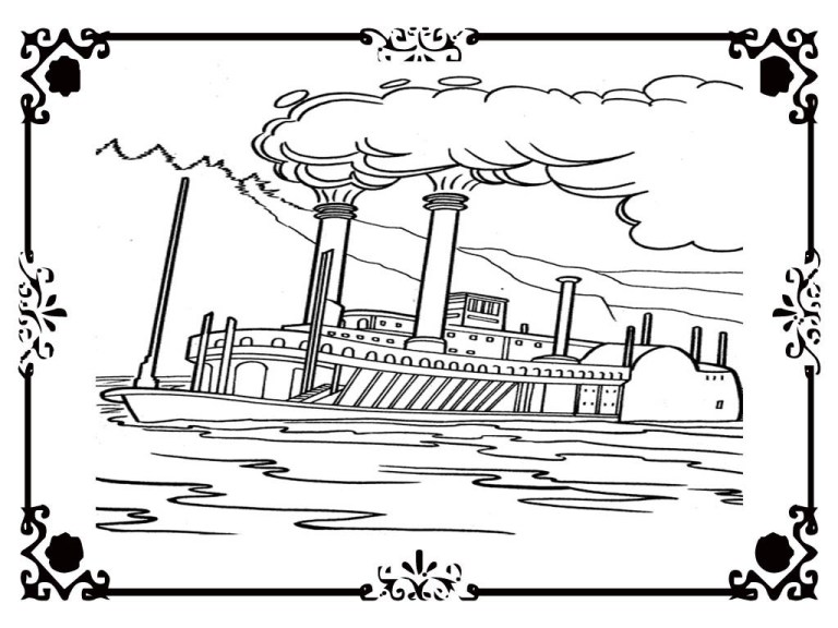 Free Titanic Colouring Pages