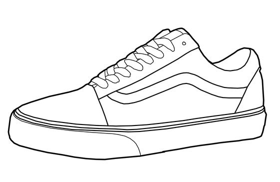 free vans shoes coloring pages to print for kids images
