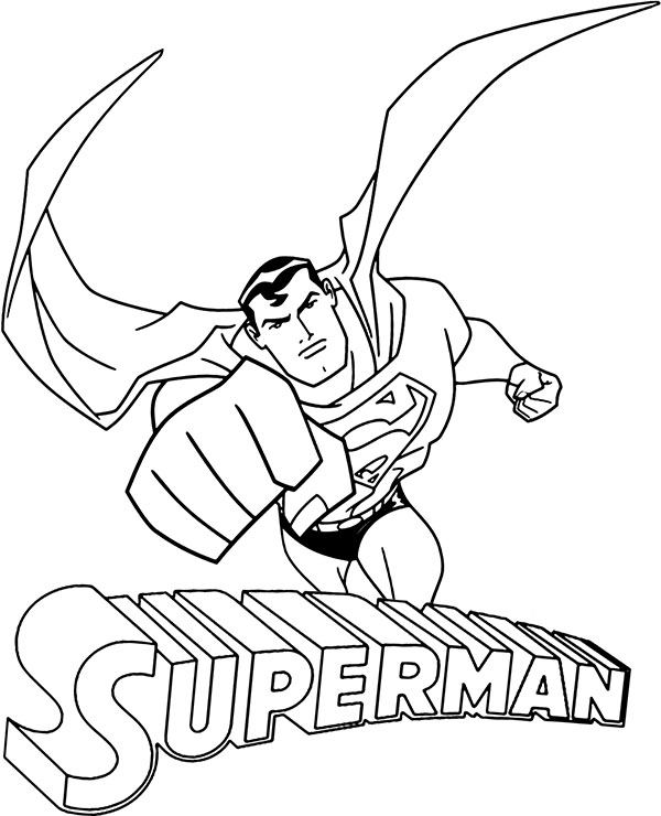 free wallpaper flying superman coloring sheet comic book to color