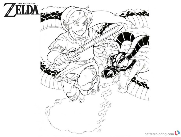 free zelda coloring pages