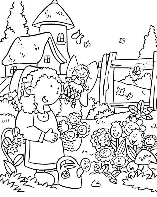 garden flower colouring pages for children disney ideas