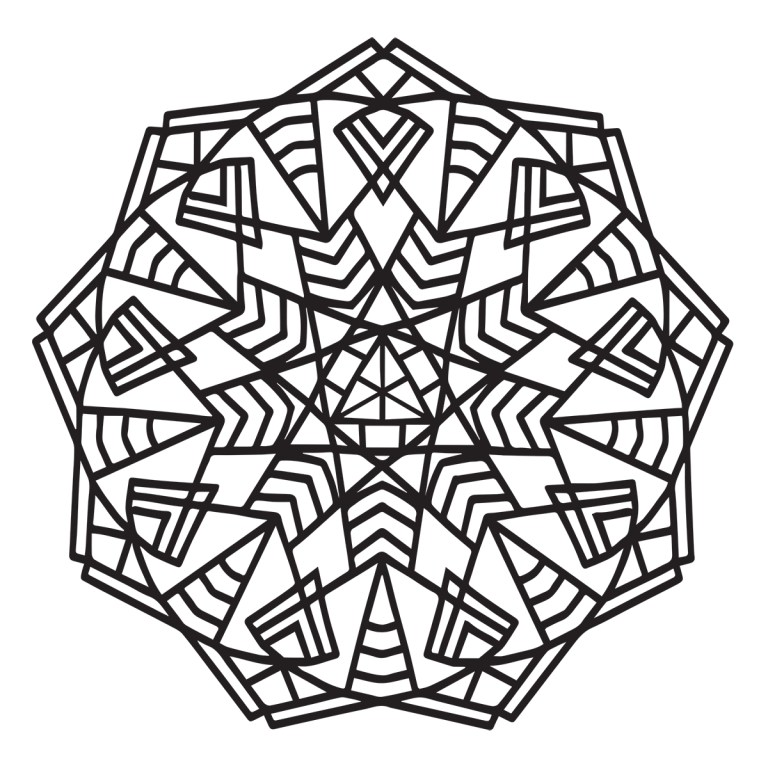 geometric mandala coloring for colour