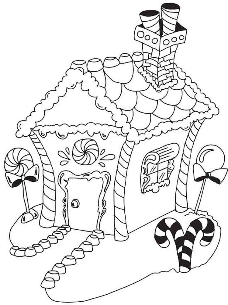 gingerbread house to color oline