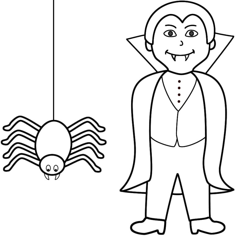 Halloween Coloring Pages Vampire