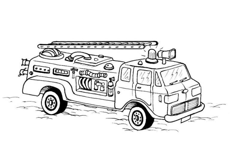 Hard Coloring Pages Of Firefighters Fighting A Grass Fire