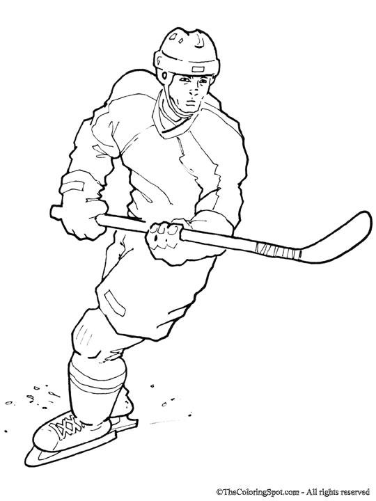 Hockey Coloring Sheet