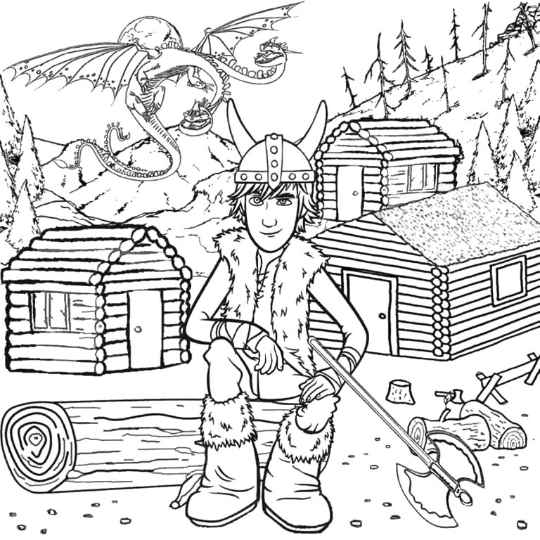 How To Train A Dragon Coloring Pages