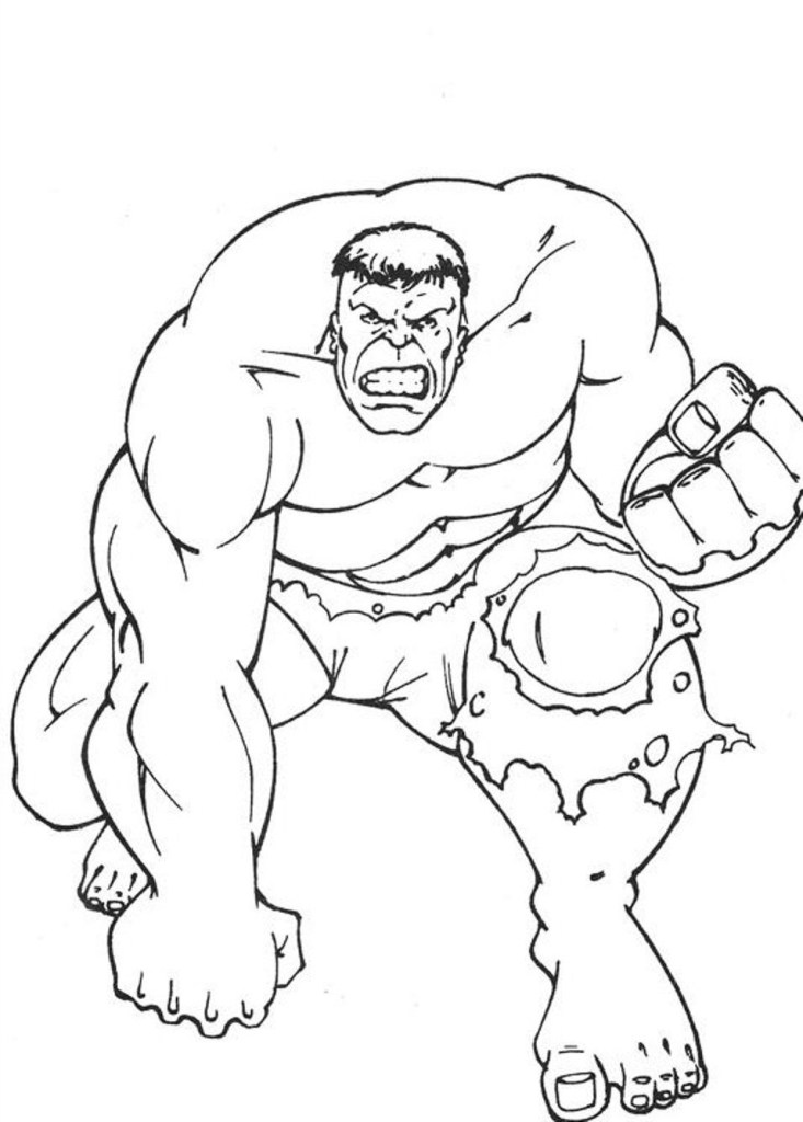 Hulk Coloring Images