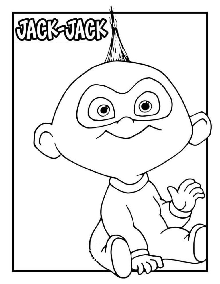 Incredibles Coloring Page
